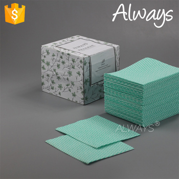Restaurant use soft absorbent wave printing nonwoven kitchen Used Rags To Clean