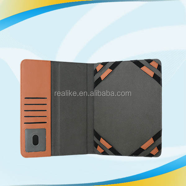 High quality demin pattern PU leather portfolio case for 8inch tablet pc with credit card slots,stand function