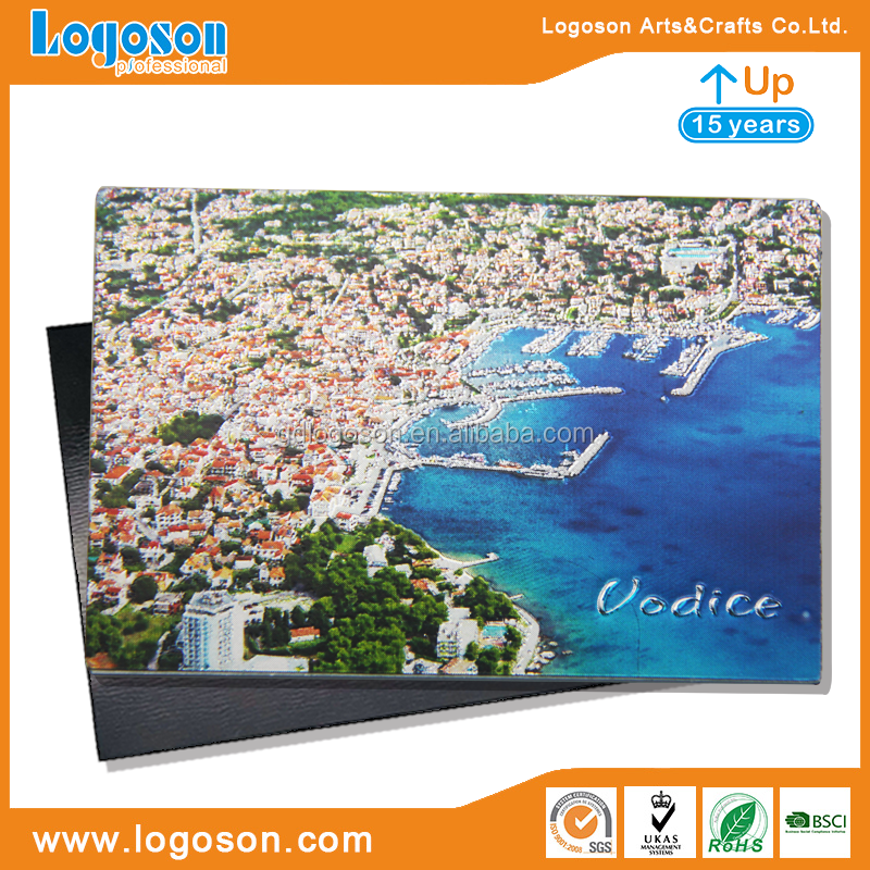 Promotional Souvenirs Logoson Custom Foil Paper Material Made Croatia Scenery Refrigerator Photo Magnet Country Magnets