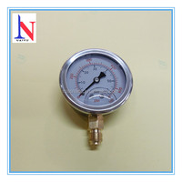"2.5"" glycerine filled manometer fluid pressure measure 0-900 psi"