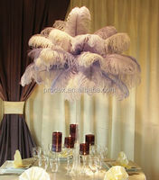Party decoration ostrich feather wedding stage decoration