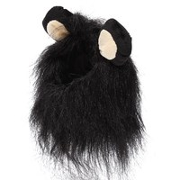 2015 New High Quality Hot Sale Cool Pet Costume Mane Wig For Cat Halloween Clothes Fancy Dress up With Ears New