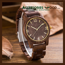 2017 New quality free custom handmade real natural wood watch sale