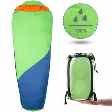 Extreme Waterproof Backpacking Double Sleeping Bag with 2 Pillows Amazingly Lightweight, Compact, Comfortable & Warm