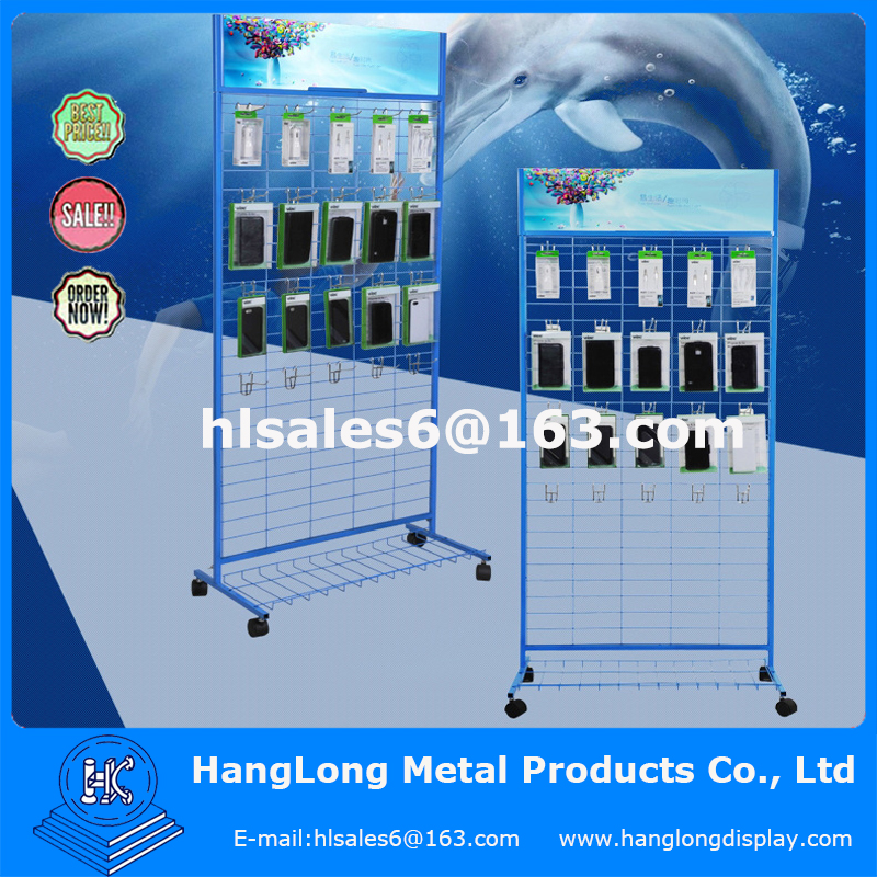 Metal display rack for mobile phone accessories
