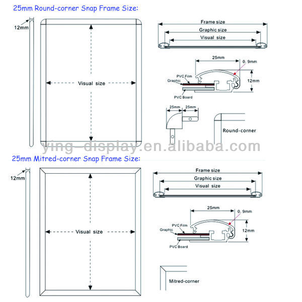 Portable Advertising Photo frames Picture Frame Snap Frame