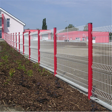 3D curvy PVC metal welded wire mesh panel fence/fecning