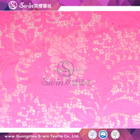 Jacquard pink high quality eyelash voile lace fabric dyeing for bridal lace wedding dress