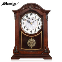 Retro Pendulum European Style Wooden Quartz Table&Desk Clock