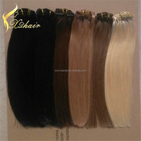 High Quality Remy Human Hair Clip in ,22 Inches brazilian human hair extensions in different color can accept the sample