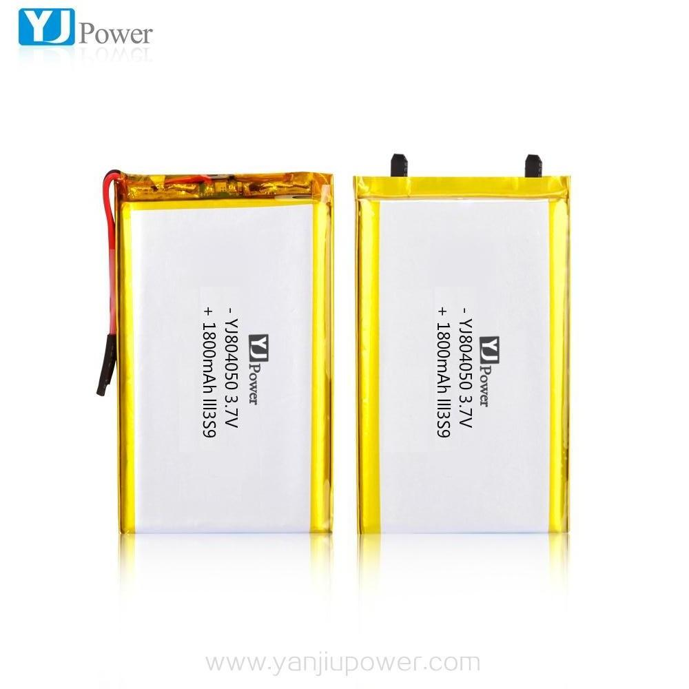 804050 3.7v 1800mah lithium polymer cells / battery with NTC
