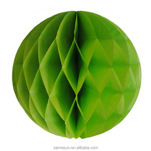 Emerald paper honeycomb ball for wall decoration