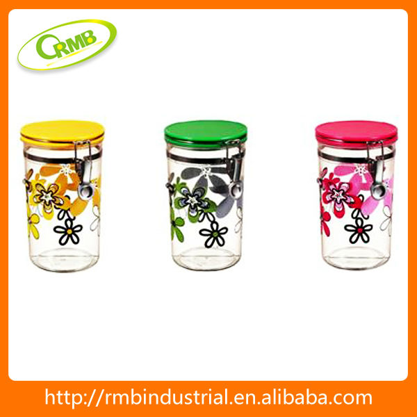 decoration glass canister(RMB)