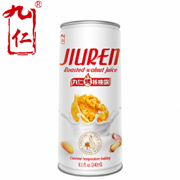 240ml package can fruit juice concentrate jiuren baby food roasted almond drink