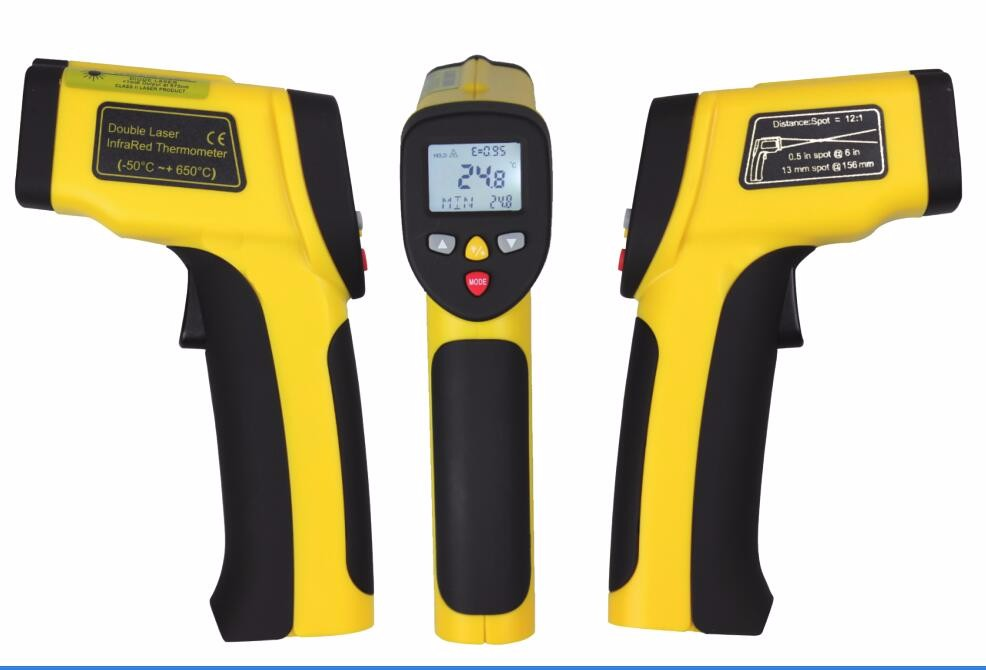 Xintest factory price HT-817 multifunction digital gun type non-contact infrared thermometer