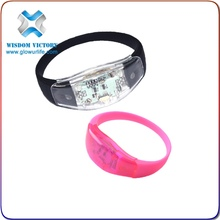 2015 Wholesale Cheap Flashing LED Bracelet For Promotional As Gifts, OEM Logo Printed LED Bracelet For Promotional As Brand Gift