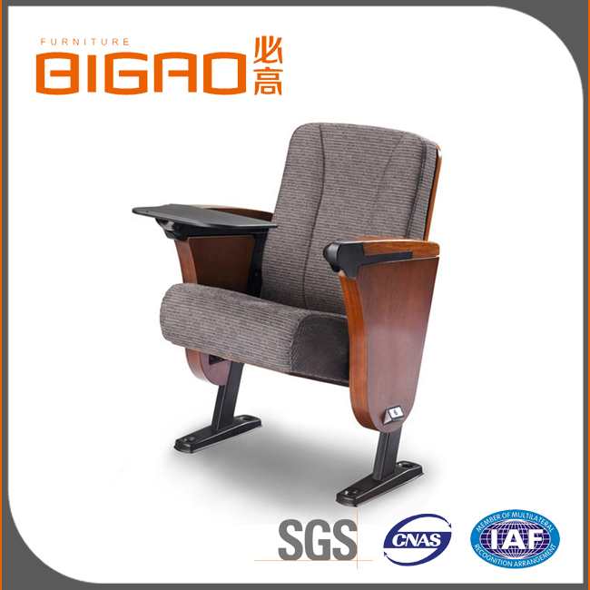 Widely Welcomed Stable Quality Conference Hall Chair With Wood Cover Arm