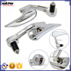 BJ-RM400-03 Chrome Billet Aluminum Handle Bar End Mirror for Motorcycle Kawasaki Z250 Z300