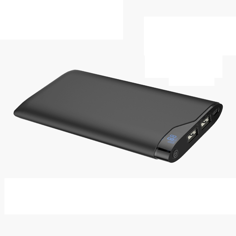 Super slim portable power bank 10000mah with LCD display