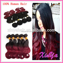 No Tangle No Shed 7a Virgin Remy Brazilian hair weaves ombre hair