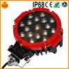 Red ring led 4x4 auto 51W working light offroad Round 51w led work lamp