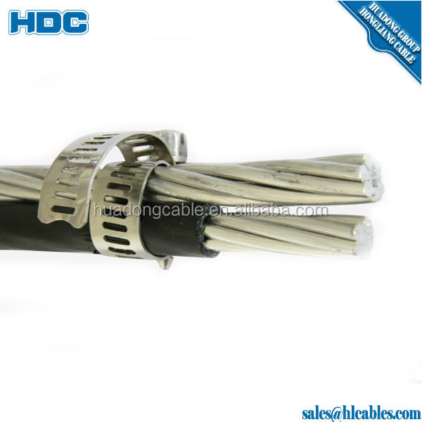 aluminum overhead AAC service drop cable duplex 2/0AWG TO Bacolod