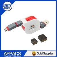 Original driver download 2 in one usb cable for iphone 5 charger cord
