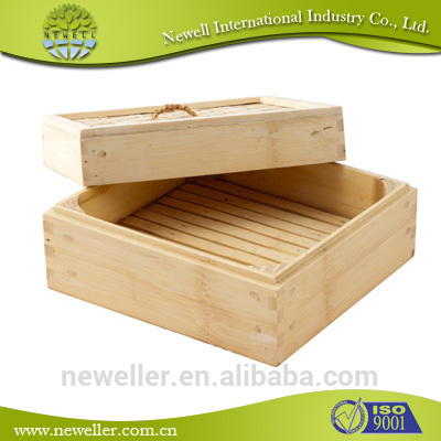 2014 Hot Selling round bamboo cheese board set commercial food steamers
