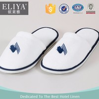 ELIYA Disposable Hotel Slippers,Cotton Towelling Hotel Slippers,Embroidery Velvet Slippers