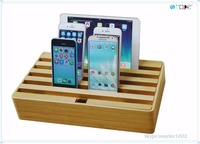 Wood Bamboo Charging Dock Station Charger Stand Holder For Apple Watch & iPhone and other smart electronics
