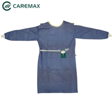 Best selling cheap disposable patient surgical gown blue