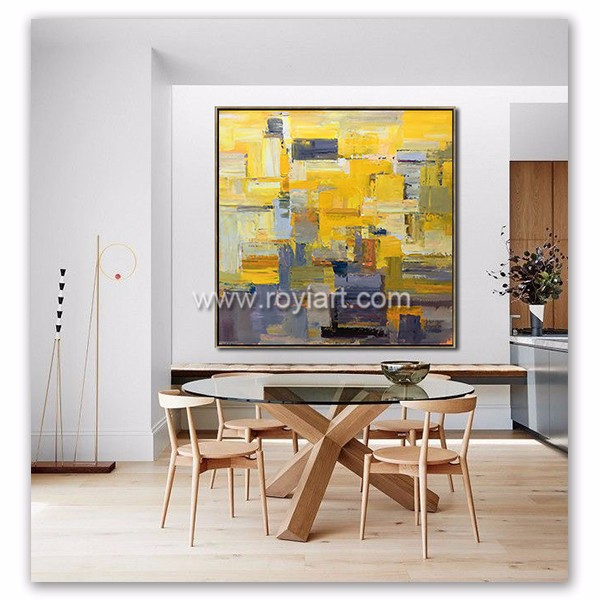 Original art contemporary modern art large palette knife oil painting on canvas