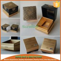 luxury empty paper packaging perfume box with big gold stamping