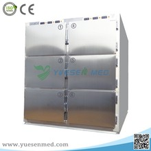 High quality stainless steel six corpses cheap mortuary body freezer price