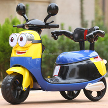 New model Minions Types kids battery operated child electric motorcycle