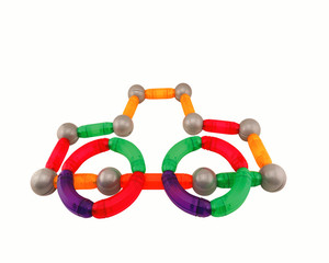 China factory cheap price kids magnetic stick and magnetic bead toy