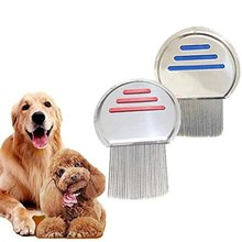 Pet dog flea comb stainless steel thread, Beauty Supplies To Remove Pets Knotted Hai