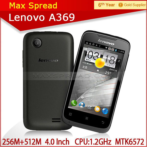 cheap brand mobile phone mtk6572 dual core 1.2ghz android 4.0 brand lenovo a369