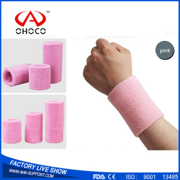 Colorful Sports Wristband Sweatband Cotton Wrist Support Protector