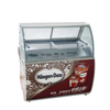 Sliding glass door ice cream display freezer