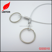 White PVC coated stainless steel cable lifting sling
