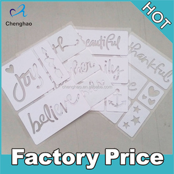 custom pvc adhesive kids drawing stencil sheets paper