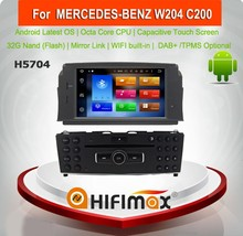 HIFIMAX Android 6.0 Car DVD Player For MERCEDES BENZ C-W204 for mercedes c200 w204 Car DVD GPS Navigation system