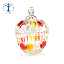 China Factory Wholesale High Quality Home Goods Crystal Fashion Beautiful Customized Creative Candy Glass Mason Jar
