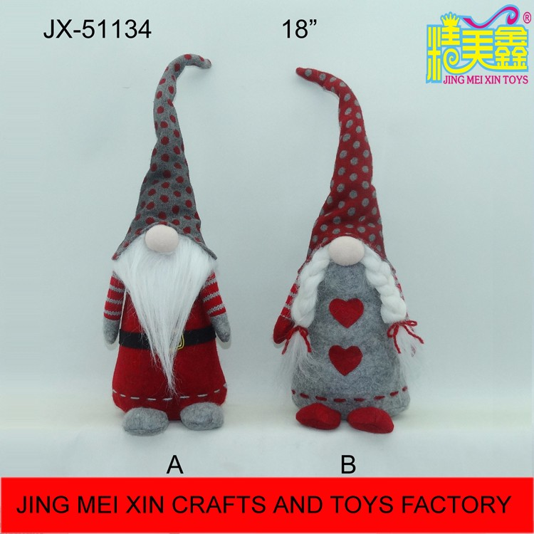 Best selling woolen tall hat christmas father and mother decoration items
