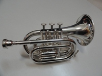PTR-3S Silver Trumpet Pocket Trumpet Professional Cheap Trumpet with OEM Price