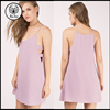 2016 Summer spaghetti straps pink cocktail dress for women