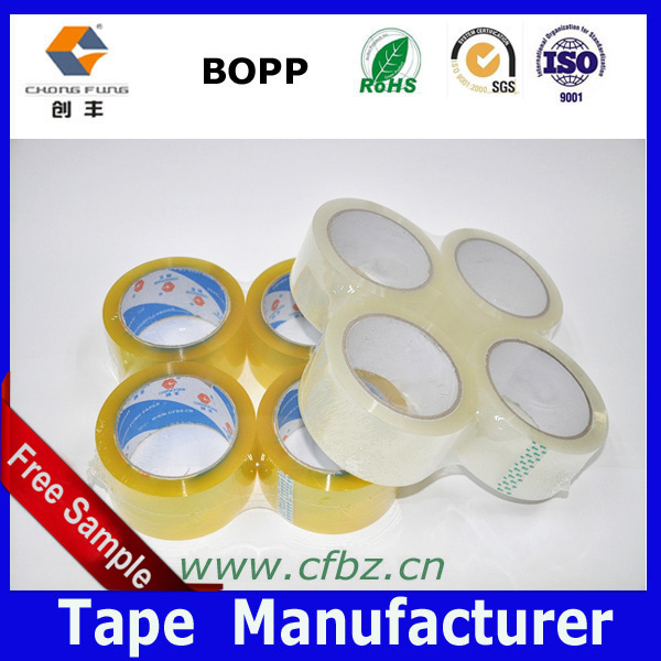 BOPP and OPP Plastic Packing Tape coated with water-based acrylic glue