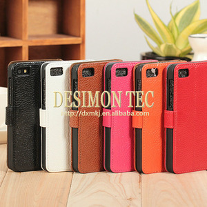 Factory Price Flip Leather Case for blackberry Z10 Dev Alpha B