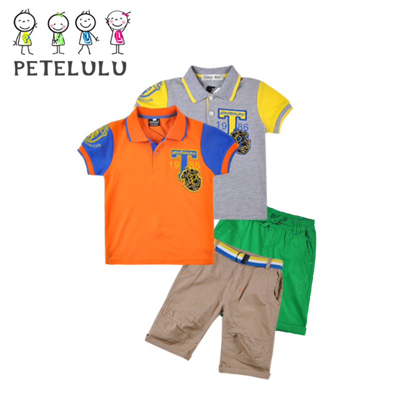 Bulk Custom 3 Pockets Design Pants 2 To 10 Years Old Kids Polo Shirt Wholesale